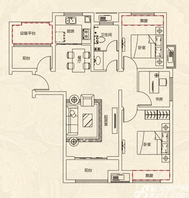 文一名门北郡3室96平米户型图.jpg