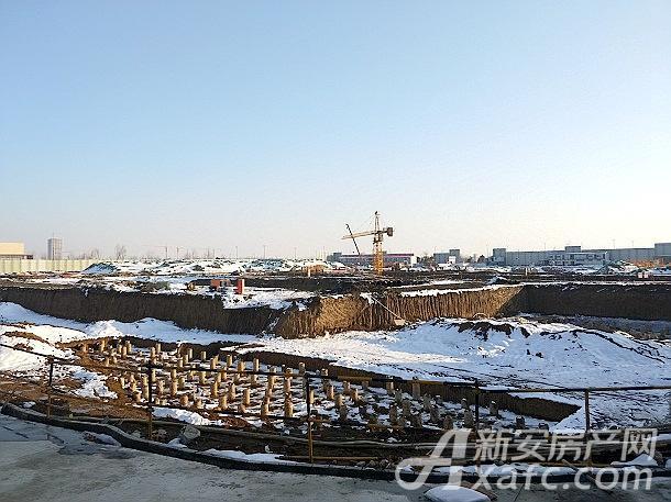 皖新国玺项目地地基打桩