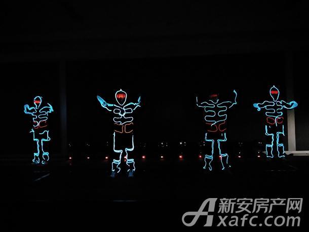 电光舞表演