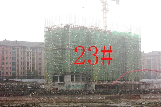 【金碧秋浦】1月份工程进度:23#已建至9层