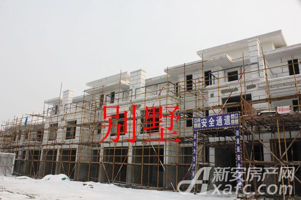 【伊美城市首府】1月进度:别墅正在粉刷外墙