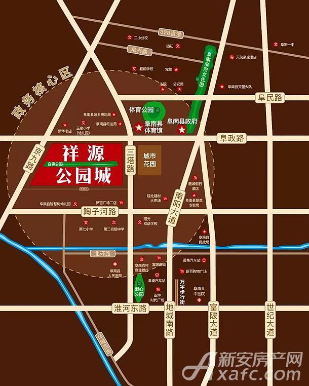 祥源公园城区位图