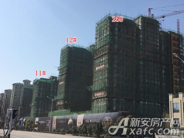 中铁南山院25#、12#、11#楼工程进度