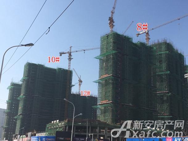万茂城住宅12#、10#、8#楼工程进度
