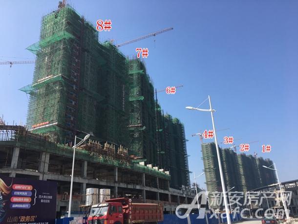 万茂城住宅6#、7#、8#、4#-1#楼工程进度