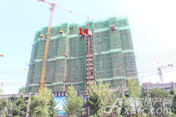 恒大林溪郡1#楼建设到23层
