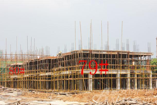 【伊美城市首府】8月进度:80#洋房建至2层