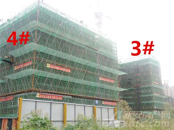 龙湖瑶海天街9月份项目进度:4#建至约10层左右 3#楼建至约15层左右