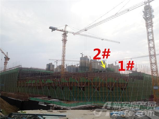 龙湖瑶海天街9月份项目进度:1#建至约2层左右 2#楼建至约3层左右