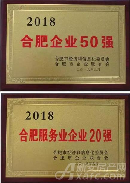 2018合肥企业50强、服务业企业20强排行榜(部分)