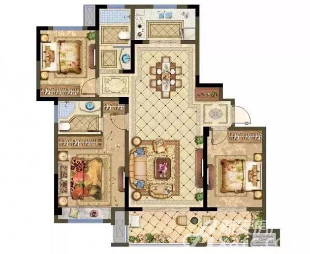 中高层A户型 3房2厅2卫