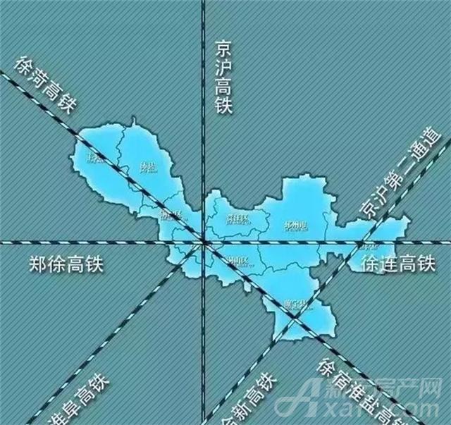徐州2小时交通圈规划图