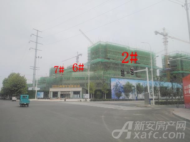碧桂园城市之光9月份2#、6#、7#项目进度