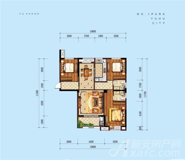 公园道B区御湖15#楼新品N户型