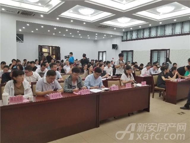 淮北市第十四届房展会新闻发布会现场图