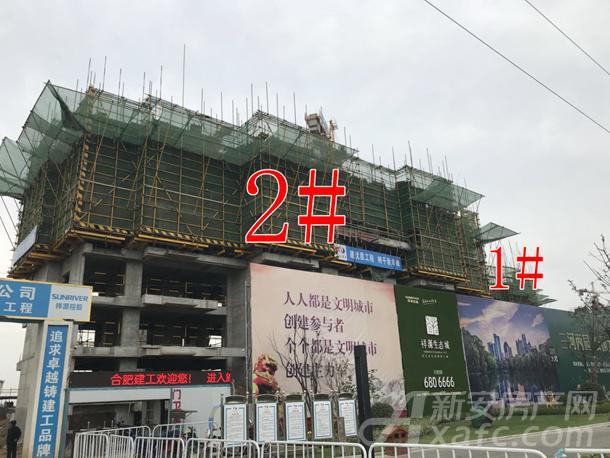 祥源生态城景秀园首开1#、2#高层已建至五层左右