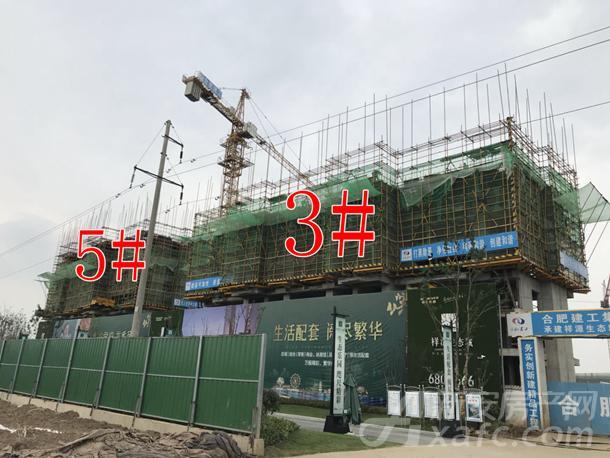 祥源生态城景秀园首开的3#、5#高层已建至五层左右