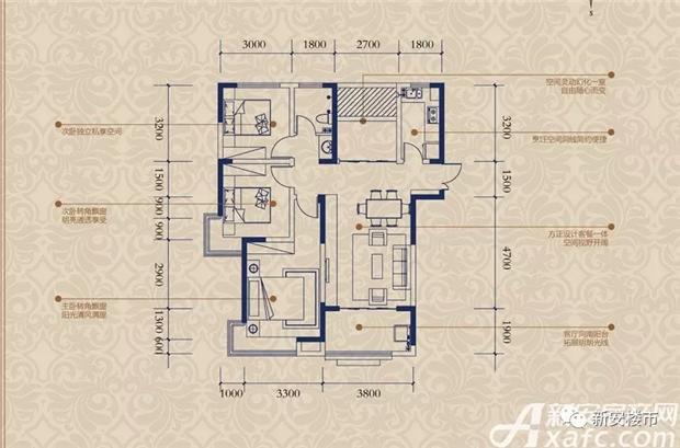 3室2厅建筑面积约107㎡