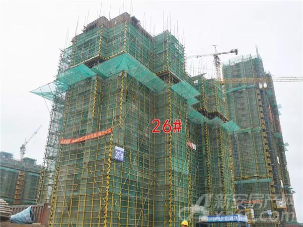 国购名城26#楼正在进行10层结构施工