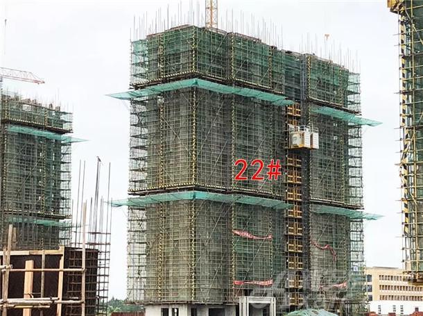 国购名城22#楼正在进行16层结构施工