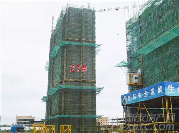 国购名城27#楼正在进行9层结构施工