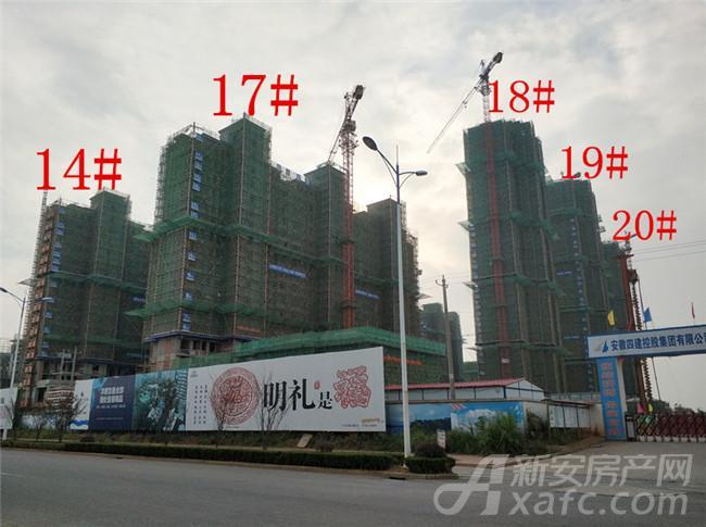 淮矿东方蓝海14#、17#—20#项目进度