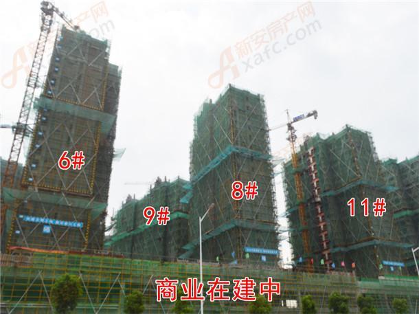 6#、11#、8#、9#号楼封顶商业在建中