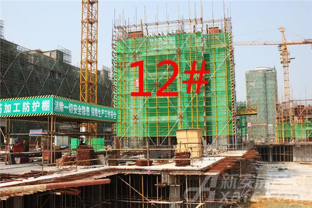 【观湖花园】9月进度:12#小高层已建至3层