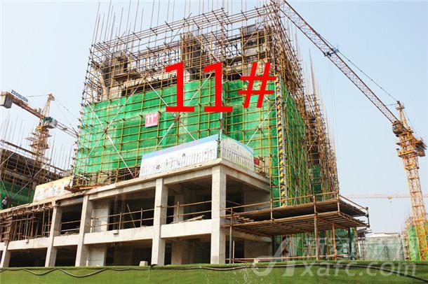 【观湖花园】9月进度:11#小高层已建至3层