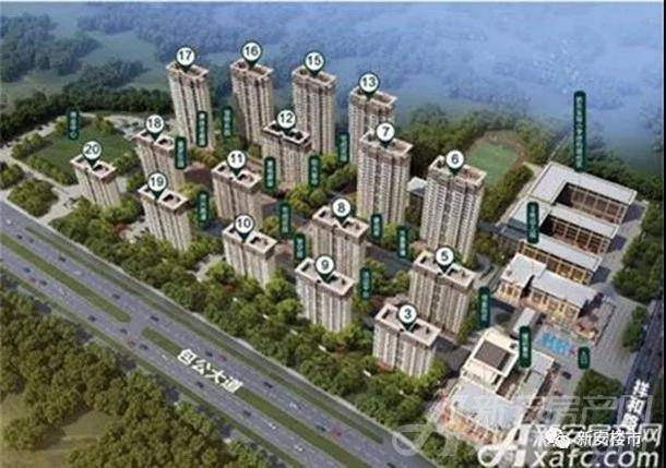 碧桂园新城十里春风效果图