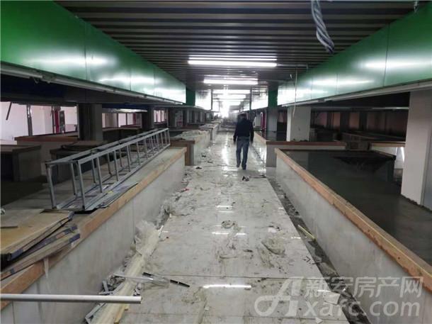 东成国际广场农贸市场10月内部装饰进展