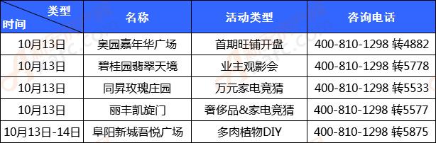 第四十一周阜阳楼市活动统计表