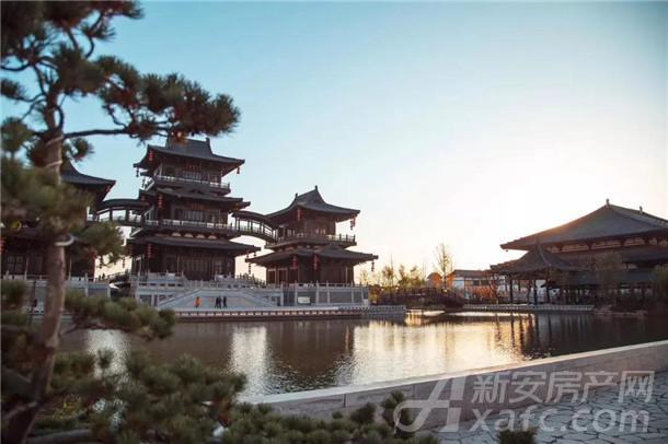 隋唐运河古镇实景图