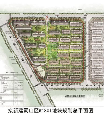 蜀山区W1801号地块规划