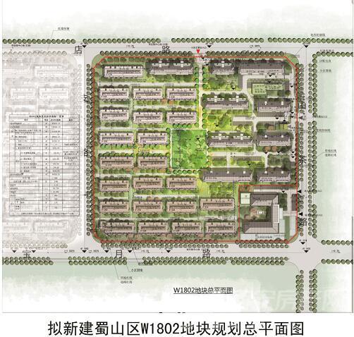 蜀山区W1802号地块规划