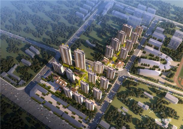高速·滨江首府整体鸟瞰图