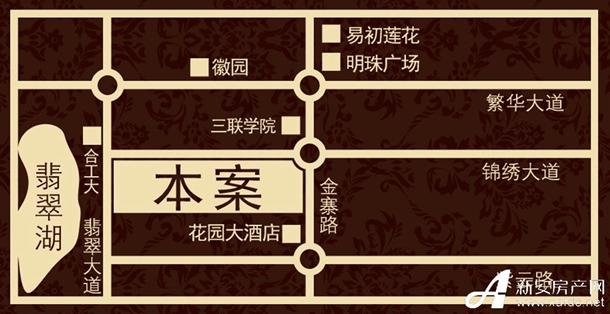 锦绣大地城区位图