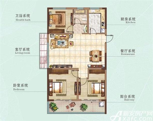 106㎡三室两厅