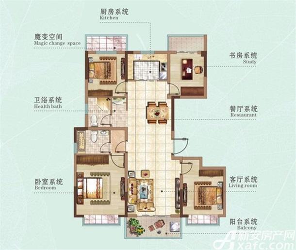 132㎡四室两厅