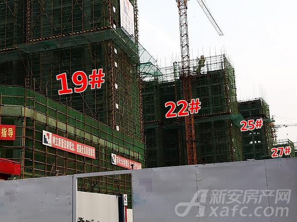壹�府邸19#、22#、25#楼项目进度