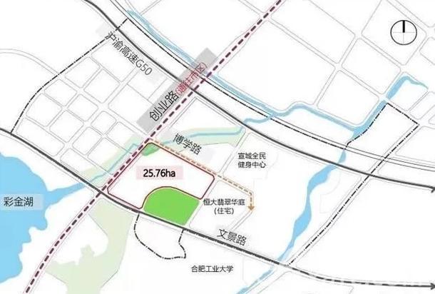 北师大宣城校区位置图