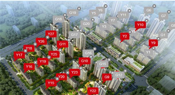 中海城楼栋图标注