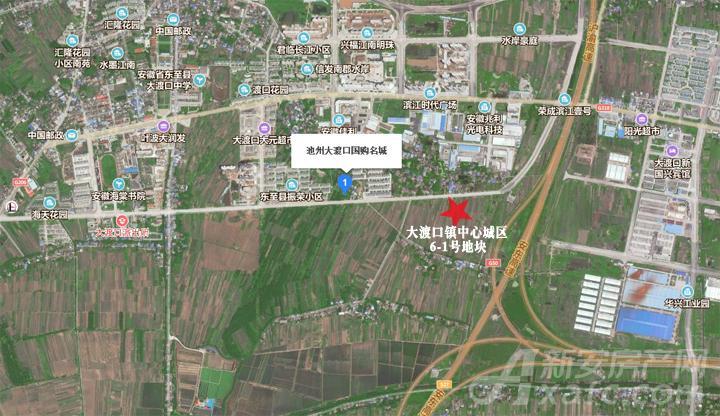 大渡口镇中心城区6-1号地块卫星区位图