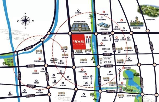 金悦理想城区位图