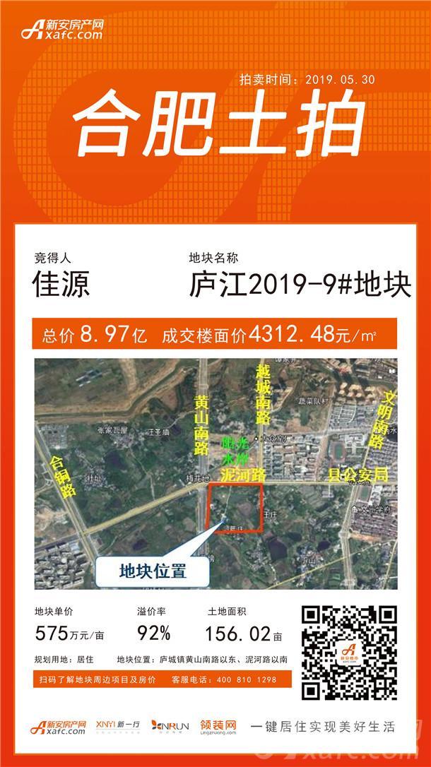 庐江2019-9#地块土拍信息图