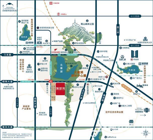 中海嶺湖湾区位图