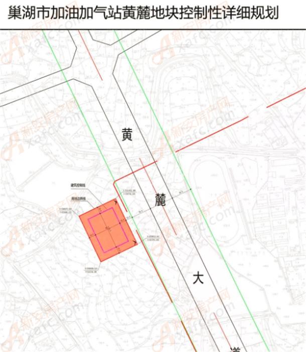 巢湖市加油加气站黄麓地块控制性详细规划