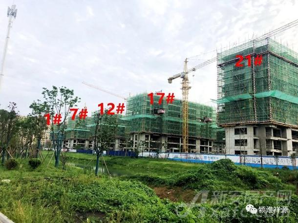 祥佑府1#、7#、12#、17#、21#施工进度实景图