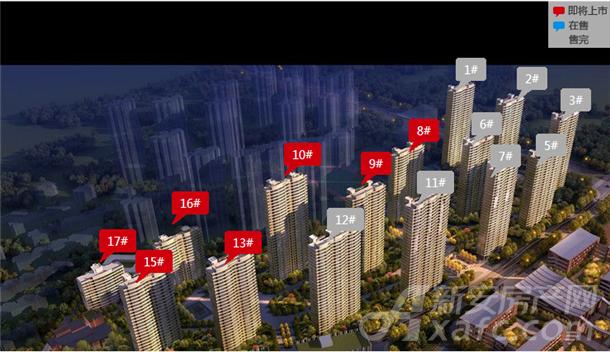 合肥启迪科技城·水木园楼栋分布图