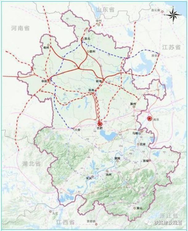 皖北城际铁路规划建设示意图